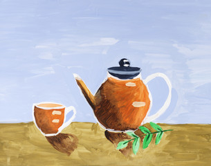 Still life with Tea and Teapot