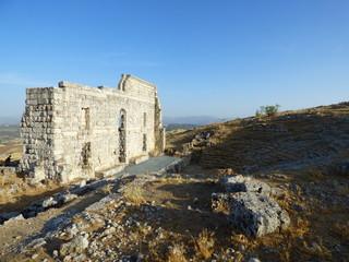 Teatro romano de Acinipo,yacimiento arqueológico ubicado en la Serranía de Ronda  en Malaga (Andalucia,España)