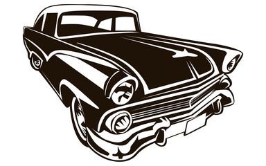 CAR RETRO ISOLATED