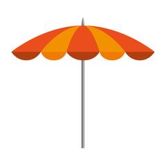 Wall Mural - beach umbrella isolated icon vector illustration design