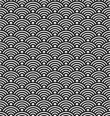 Japanese vector pattern, Asian wave background.