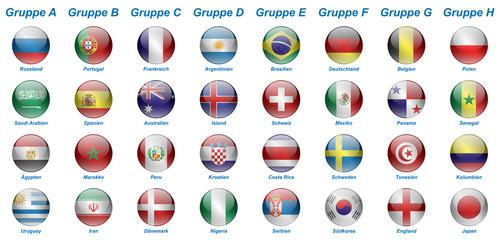 Fußball 2018 - Gruppen (Querformat)