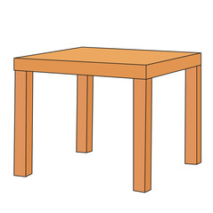 vector, isolated brown table