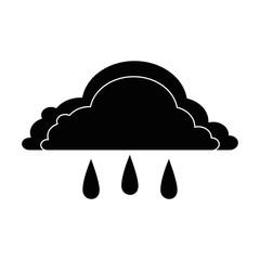 weather cloud rainy icon vector illustration design