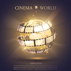 Cinema banner illustration