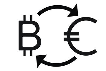 Bitcoin to Euro - color