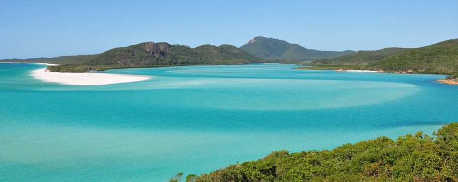 Whitehaven beach on the Great Barrier Reef in Australia