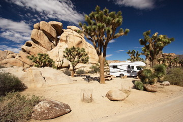 Hidden Valley Campground in Joshua Tree National Park in California in the USA
