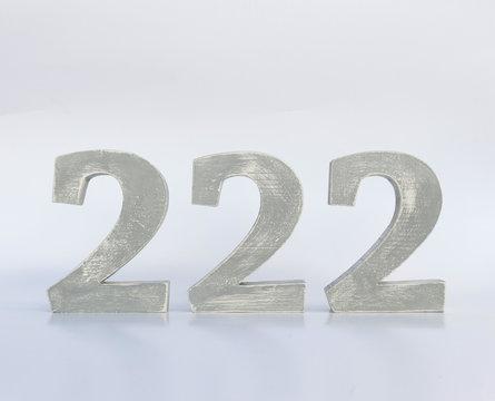 números madera 222