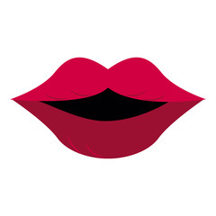 Sexy lips cartoon icon vector illustration graphic design