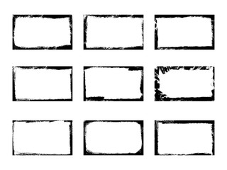 Set of grunge frames and corners, background overlays