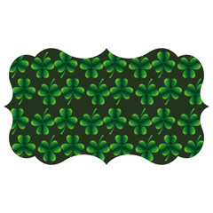 label decoration pattern clover st patrick day vector illustration