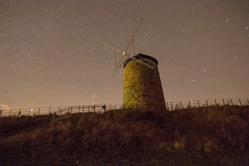 St Monans windmill at night