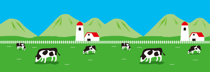 Illustration of Farm. / The right and the left connect.