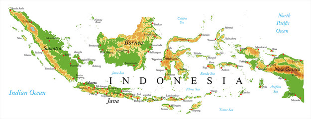 Indonesia Relief map