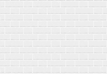 Seamless pattern white brick wall vector background