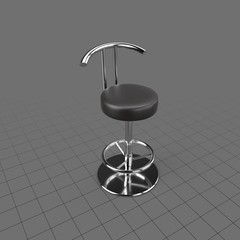 Bar stool with a high back