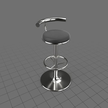 Bar stool with a low back