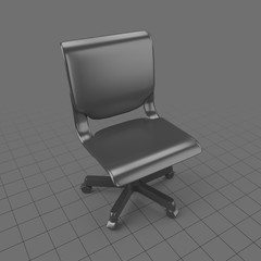 Wide back office chair
