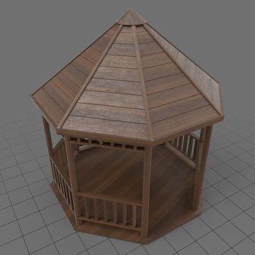 Wooden gazebo