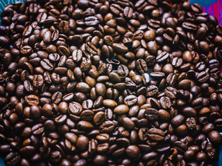 close up shot of the coffee beans background