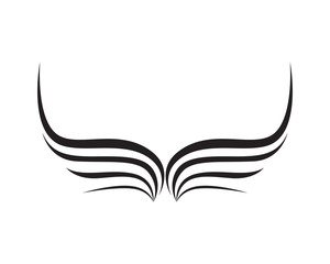 Wings bird sign abstract template icons app