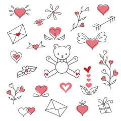 Valentines day vector clipart illustration.
