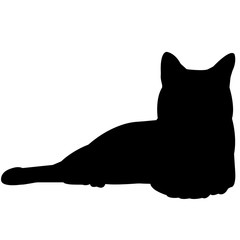 Russian Blue Cat Silhouette Vector Graphics