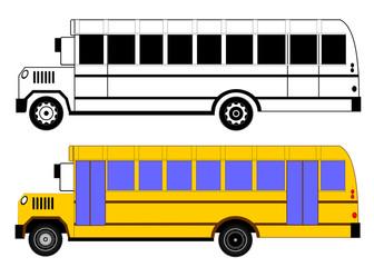 Yellow classic school children's bus