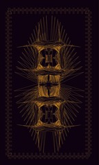 Tarot cards - back design. Scandinavian amulet