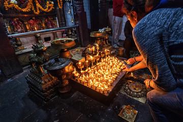 Inside a Hindu Temple, Thamel, Kathmandu, Nepal