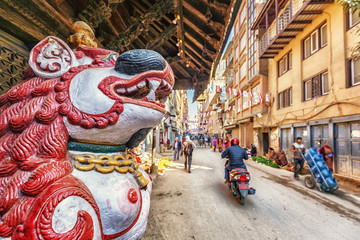 Hindu Temple Nara Devi, Thamel, Kathmandu, Nepal