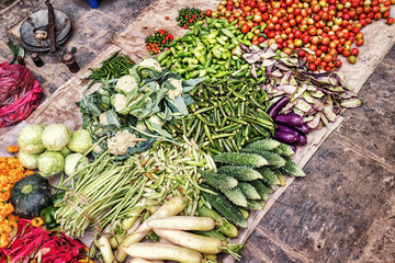 Vegetables Offered on the Street, Kathmandu, Nepal