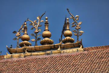 Roof Ridge, Royal Palace, Durbar Square, Kathmandu, Nepal