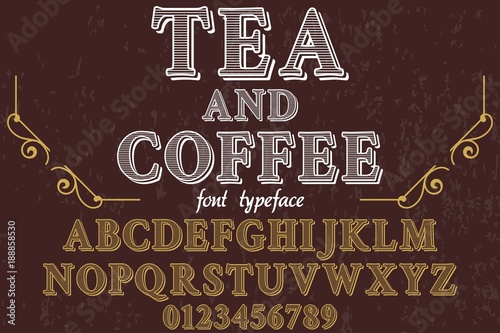 Vintage Font handcrafted vector Font Alphabet Script