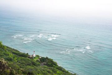 Diamond Head lighthouse in Oahu, Hawaii
