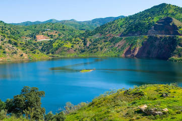 Embalse de Casasola, Almogía, Valle Guadalhorce, Málaga, Andalusia, Spain, Iberian Peninsula