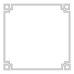 Asian frame ornament design