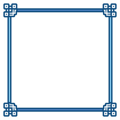 Asian frame ornament design