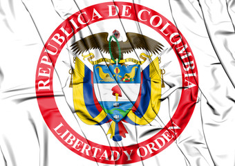 3D Presidential Seal of Colombia.