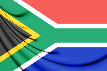 3D Flag of the South Africa.