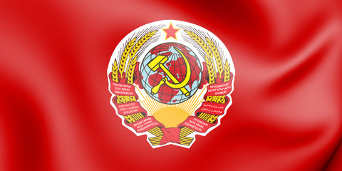 3D Flag of the Soviet Union (1924).