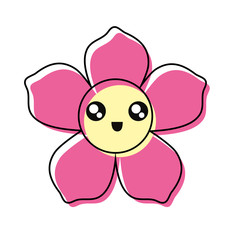 kawaii tropical flower icon