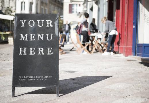 Restaurant Sign Mockup 1