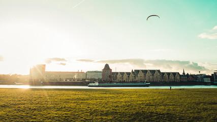 Fotomurales - Panoramic View of Rheinauhafen in Cologne, Germany