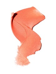 Smeared liquid cosmetics on white background