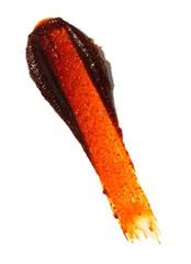 Smeared orange scrub