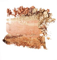 Crushed beige powdered makeup foundation