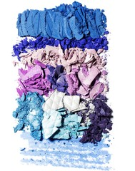 Crushed blue and purple powdered eyeshadow