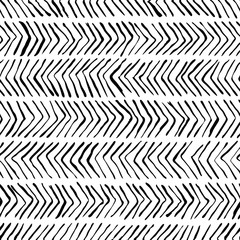 Vector black white herringbone seamless pattern. Watercolor, ink background. Scandinavian design, fashion textile print